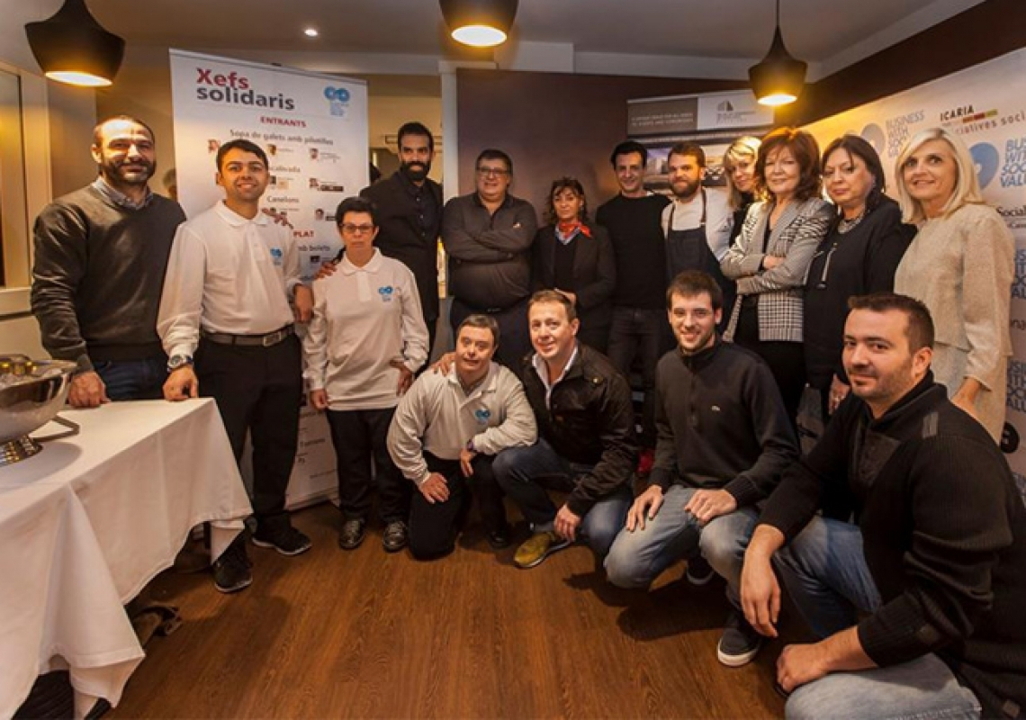 "Eduard Losilla took part of  "" Lunch of solidary chefs"""